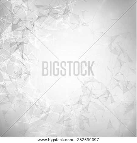 Technology Connections And Connected Polygons Vector Background. Eps10