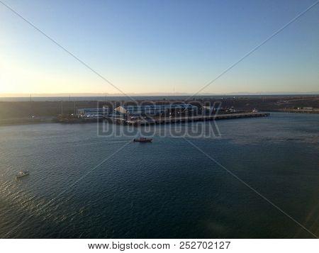 Scene Of La Paz, Baja California Sur, Mexico From A Cruise Ship.