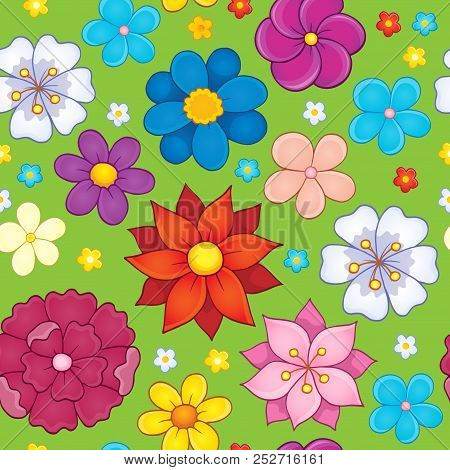 Seamless Background Flower Theme 5 - Eps10 Vector Picture Illustration.