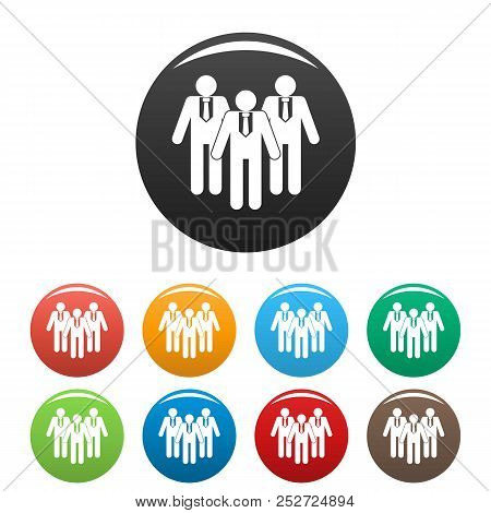 Board Directors Icon. Simple Illustration Of Board Directors Icons Set Color Isolated On White