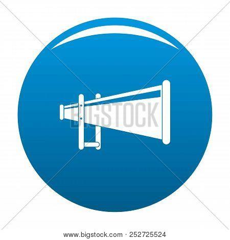 Portable Megaphone Icon. Simple Illustration Of Portable Megaphone Icon For Any Design Blue