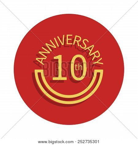 10 Anniversary Sign. Element Of Anniversary Sign. Premium Quality Graphic Design Icon In Badge Style