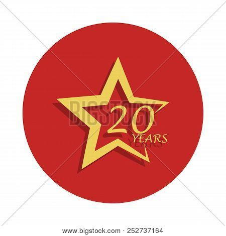 20 Years Star Anniversary Sign. Element Of Anniversary Sign. Premium Quality Graphic Design Icon In