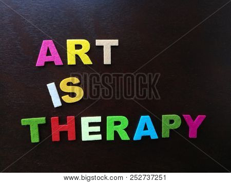 Art is therapy, in colorful wording