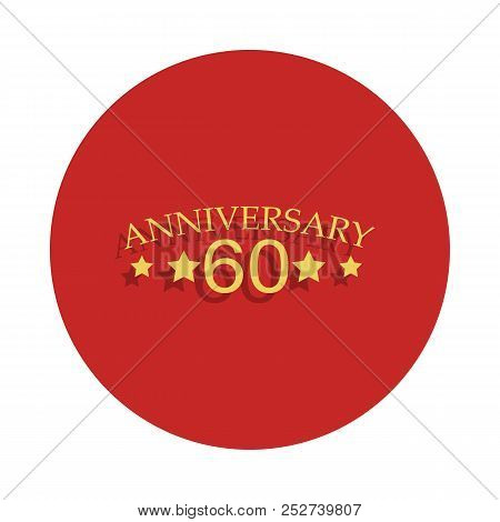60 Anniversary Sign. Element Of Anniversary Sign. Premium Quality Graphic Design Icon In Badge Style