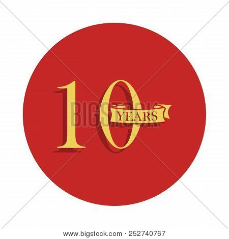 10 Years Anniversary Sign. Element Of Anniversary Sign. Premium Quality Graphic Design Icon In Badge