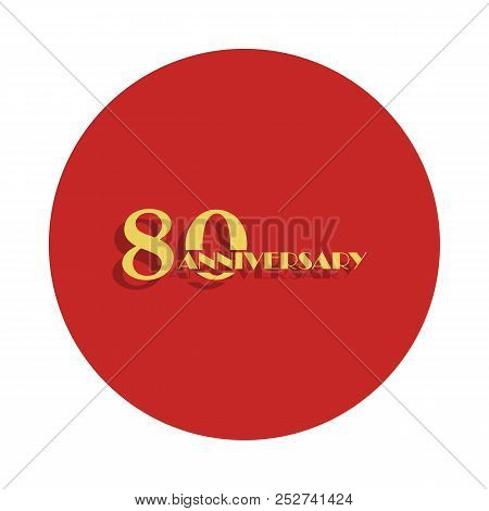 80 Anniversary Sign. Element Of Anniversary Sign. Premium Quality Graphic Design Icon In Badge Style