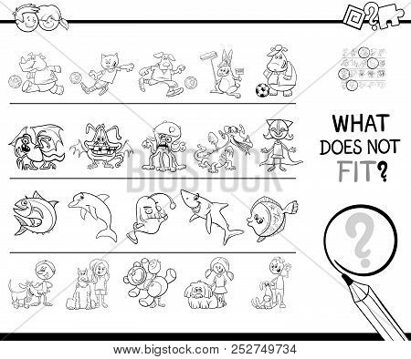 Not Fit In A Row Game Coloring Book