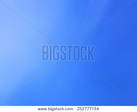 Blue Sky Empty Square Background Pattern. Simple Natural Template Of Gradient Dark To Light Blue Sky