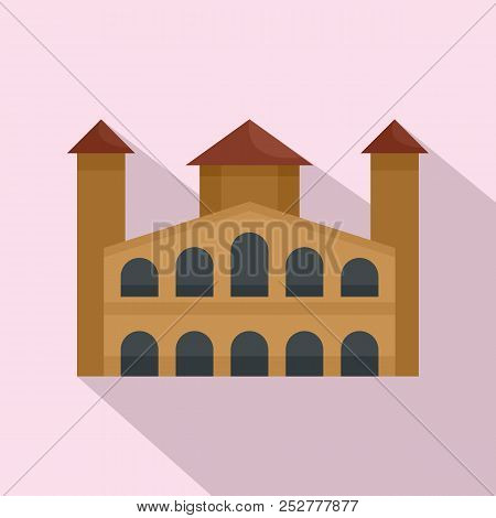 Hystorical Building Icon. Flat Illustration Of Hystorical Building Icon For Web Design