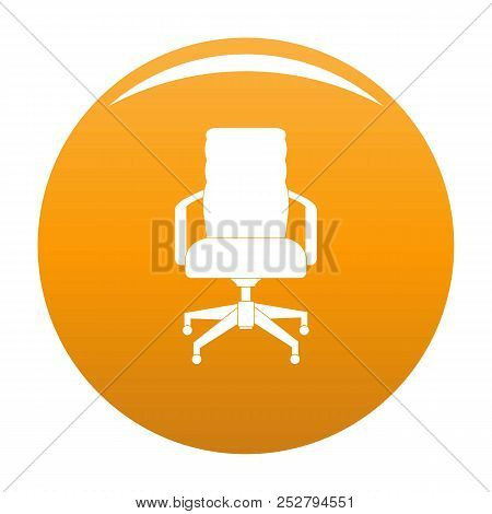 Office Chair Icon. Simple Illustration Of Office Chair Icon For Any Design Orange