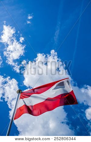 austrian flesgge blows in the wind