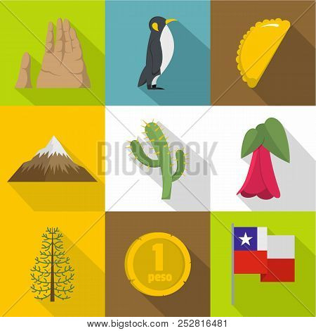 Wilderness Icons Set. Flat Set Of 9 Wilderness Vector Icons For Web Isolated On White Background