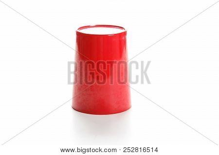 Red Plastic Mug