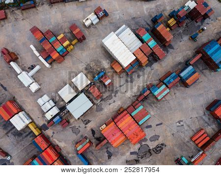 Yuen Long, Hong Kong, 15 November 2017:-Top view of storage of container