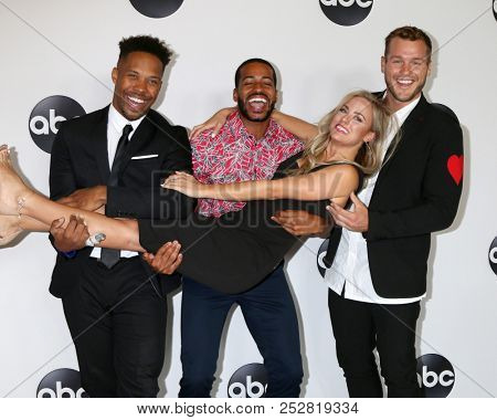 LOS ANGELES - AUG 7:  Wills Reid, Eric Bigger,  Kendall Long, Colton Underwood at the ABC TCA Party- Summer 2018 at the Beverly Hilton Hotel on August 7, 2018 in Beverly Hills, CA