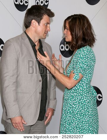 LOS ANGELES - AUG 7:  Nathan Fillion, Mercedes Mason at the ABC TCA Party- Summer 2018 at the Beverly Hilton Hotel on August 7, 2018 in Beverly Hills, CA