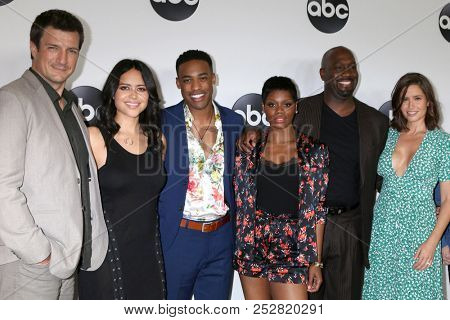 LOS ANGELES - AUG 7:  Nathan Fillion, and the cast of