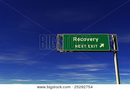 Recovery - Freeway Exit Sign