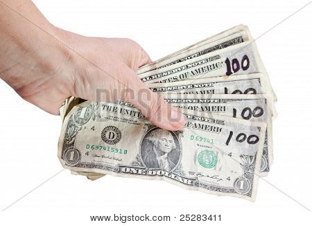 Hand With Dollars