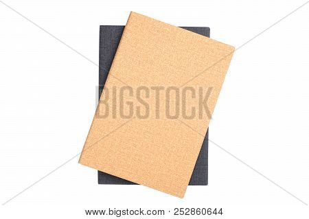 Leather Notebook Isolated On White Background With Clipping Path