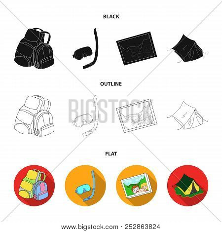 Travel, Vacation, Backpack, Luggage .family Holiday Set Collection Icons In Cartoon Style Vector Sym