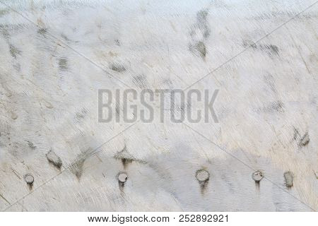 Old Grunge Metal Plate Steel Background With Scratches