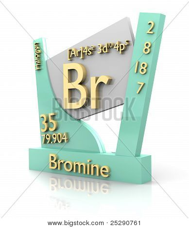 Bromine Form Periodic Table Of Elements - V2