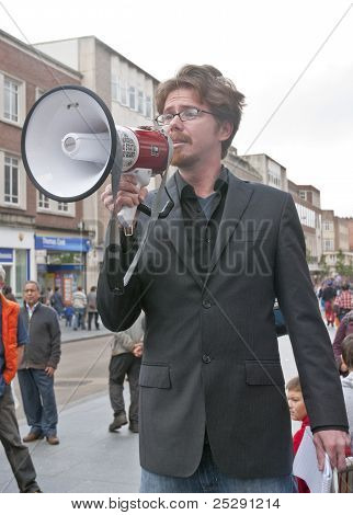 The Poet, Playwright And Director  AdaBrummitt Addresses The Occupy Exeter Participants During The R
