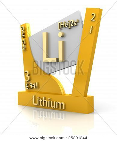 Lithium Form Periodic Table Of Elements - V2