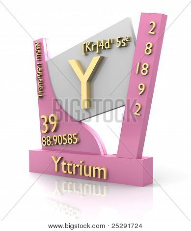 Yttrium Form Periodic Table Of Elements - V2
