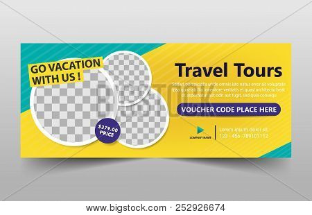 Travel Tour Corporate Business Banner Template, Horizontal Advertising Business Banner Layout Templa