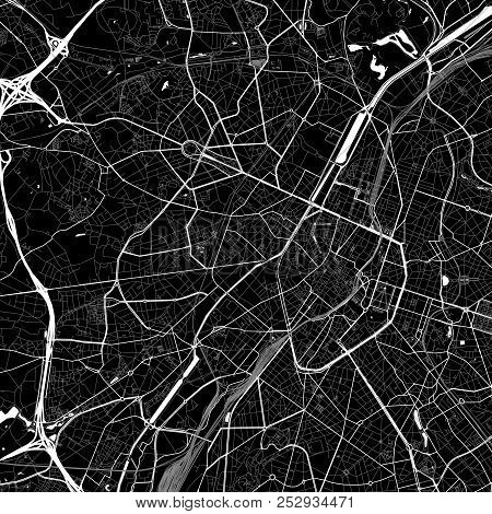 Area Map Of  Sint-jans-molenbeek, Belgium. Dark Background Version For Infographic And Marketing. Th