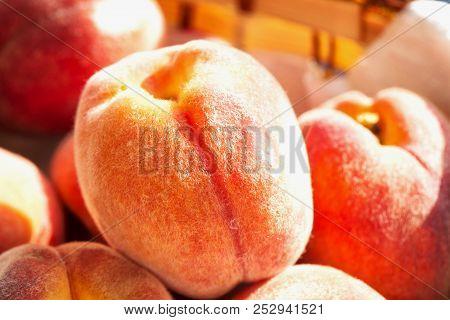 Peach In Close Up
