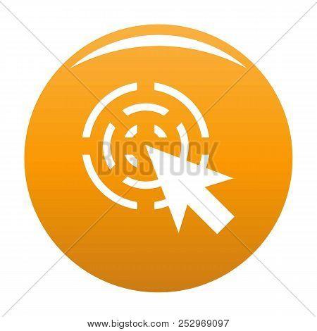 Cursor Interactive Icon. Simple Illustration Of Cursor Interactive Icon For Any Design Orange