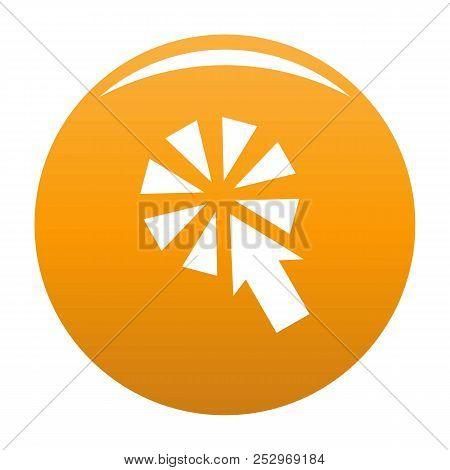 Cursor Interactive Click Icon. Simple Illustration Of Cursor Interactive Click Icon For Any Design O