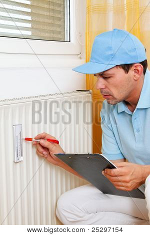 energy savings. reading the heating