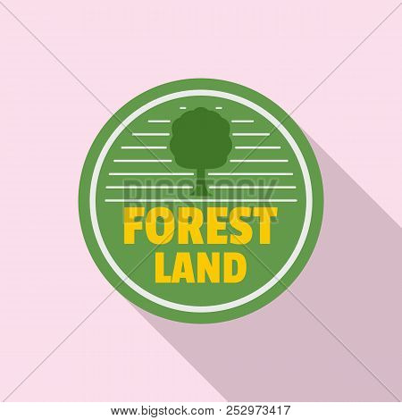 Forest New Land Logo. Flat Illustration Of Forest New Land Logo For Web Design