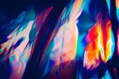 abstract background with bright and saturated colors poster