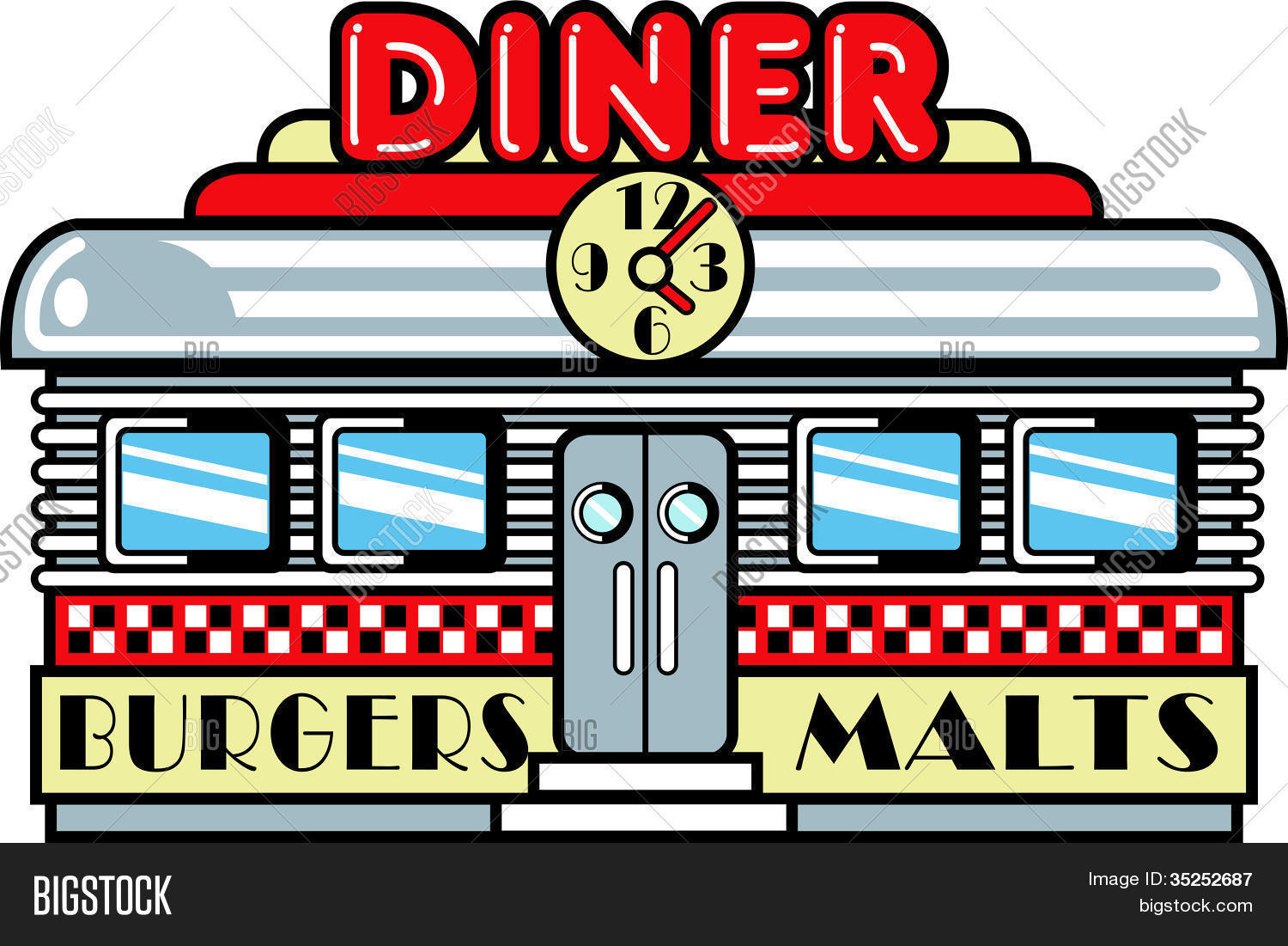 diner clip art vector photo free trial bigstock rh bigstockphoto com dinner clip art pictures diner clipart free