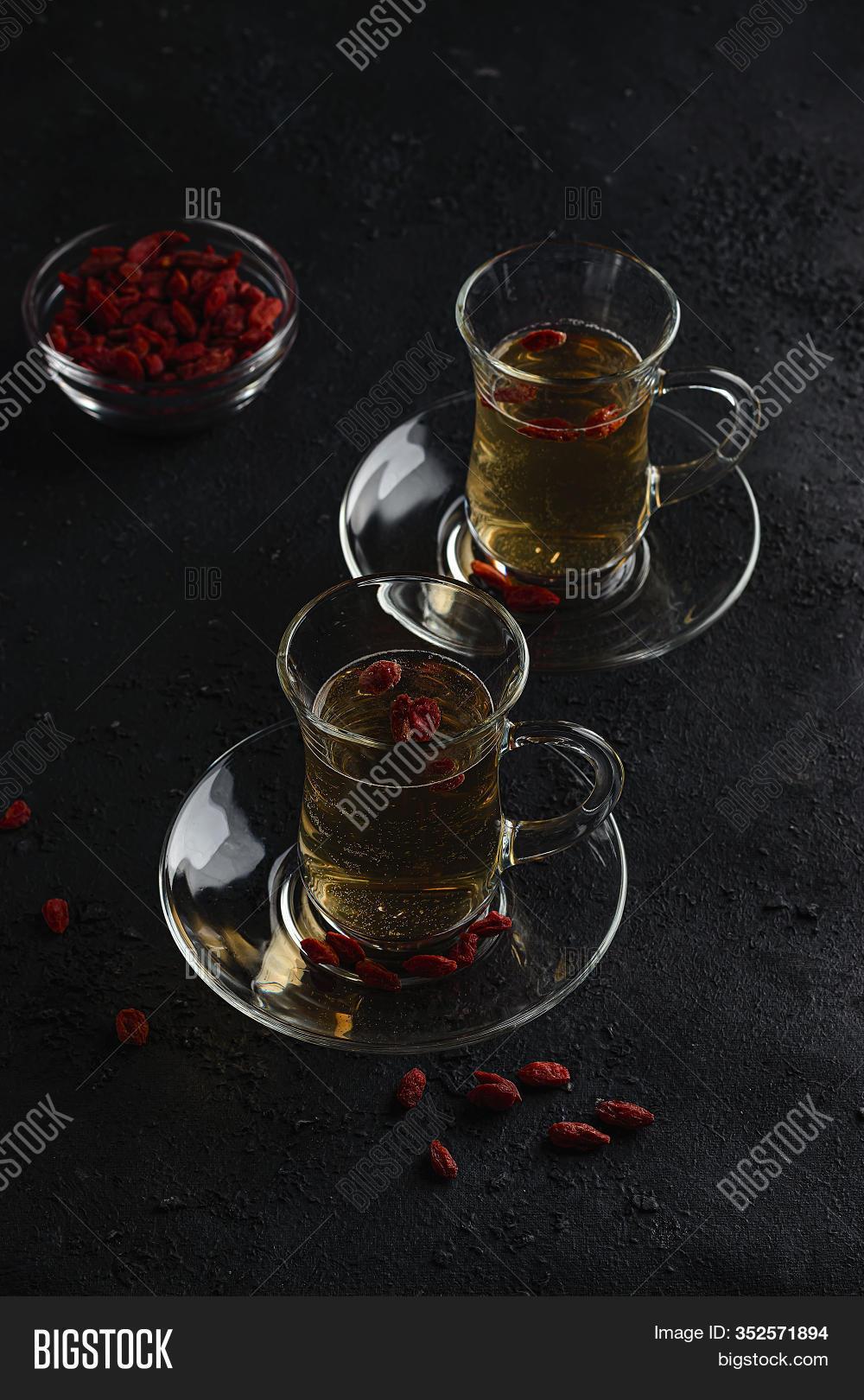 Goji Berry Tea Image Photo Free Trial Bigstock