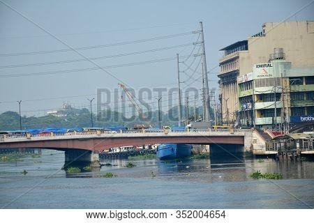 Manila, Ph - Oct. 5: William Jones Memorial Bridge View On October 5, 2019 In Manila, Philippines.