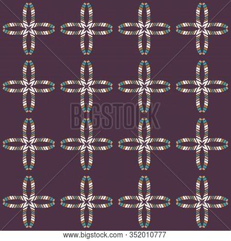 Mid Century Modern Vintage Pattern Background. Flower Masculine Shirt Graphic Design. Seamless 1960s