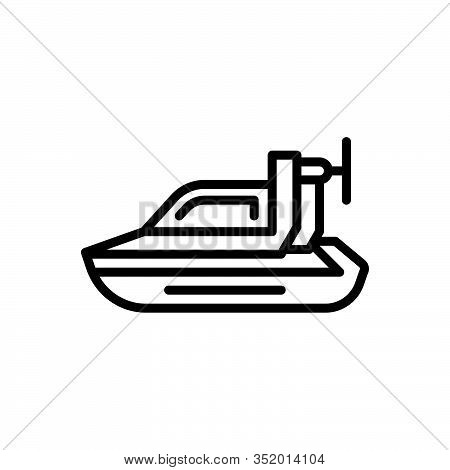 Black Line Icon For Personal-hovercraft Hover Bike Motorbike Motorboat Travel Racer Ride Rider Speed