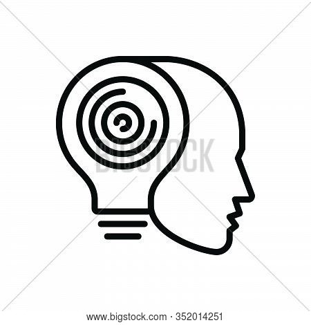 Black Line Icon For Artificial-intelligence Artificial Intelligence Psychology  Mechanism Humanoid L