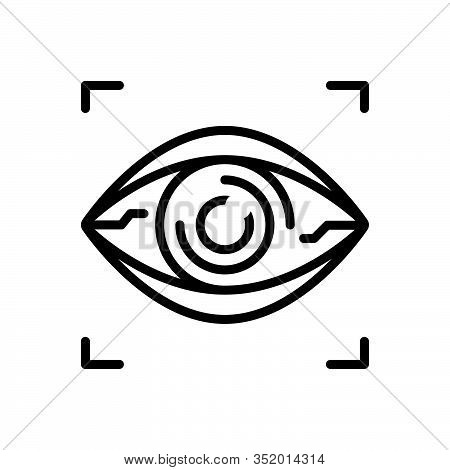 Black Line Icon For Bionic-contact-lens Bionic Contact Lens Virtual Vision Retina Reality Lenses Bio