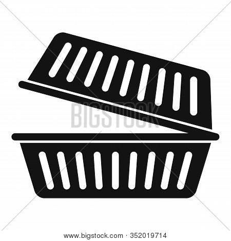 Takeout Food Container Icon. Simple Illustration Of Takeout Food Container Vector Icon For Web Desig