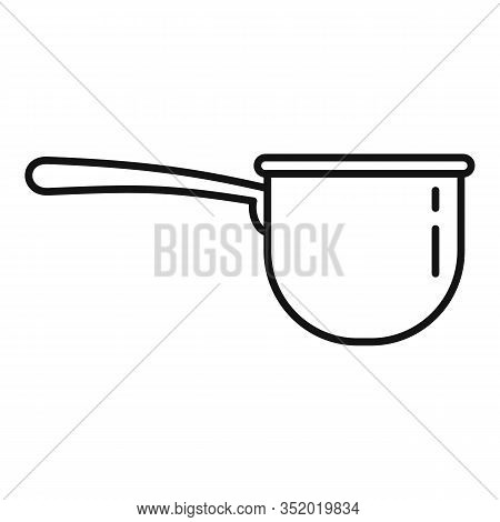 Plastic Tableware Icon. Outline Plastic Tableware Vector Icon For Web Design Isolated On White Backg