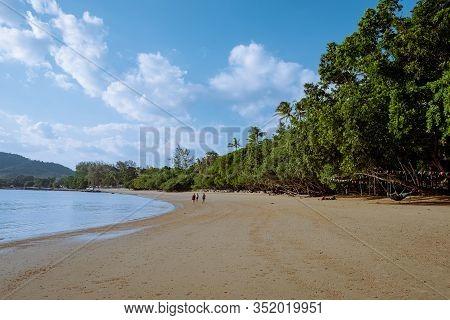 Ao Nam Mao Beach Krabi Thailand, Orange Yellow Beach During Sunset In Ao Nag Krabi