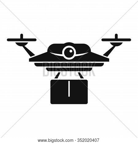 Postal Drone Delivery Icon. Simple Illustration Of Postal Drone Delivery Vector Icon For Web Design